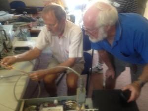 Doug and Ron checking the khune transverter