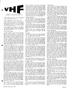 VHF Group News AR JUL SEP NOV 1967